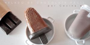 Helados / polos de chocolate. Receta fácil