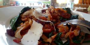 Salteado de verduras agridulce