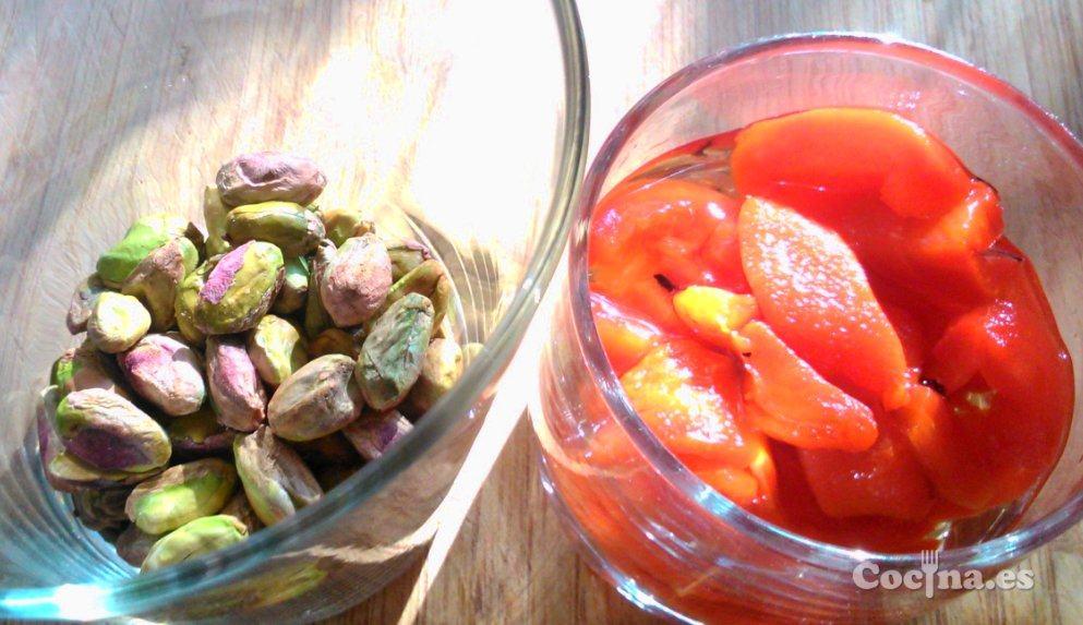 Ingredientes del paté de pistachos