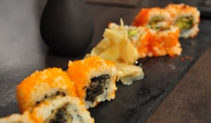 Nigiri de toro, fotomaki huitlacoche y futomaki anguila, de Kirei by Kabuki