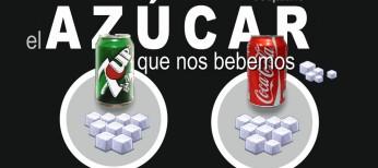 Infografía: cantidad de azúcar en los refrescos