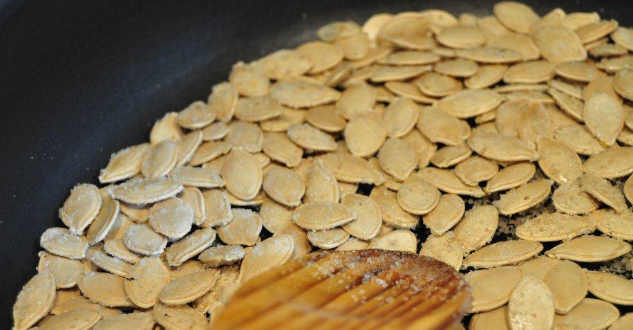 Tostar pipas de calabaza
