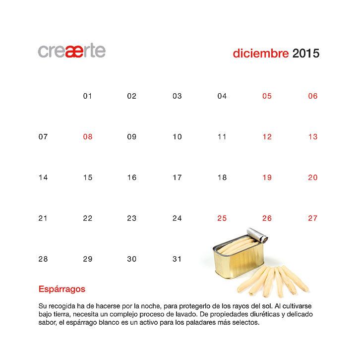 Calendario Diciembre 2015