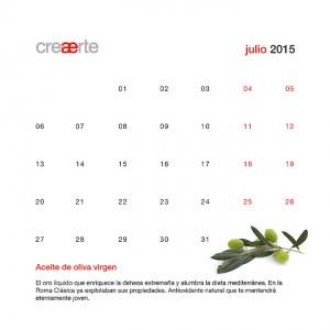 Calendario Julio 2015