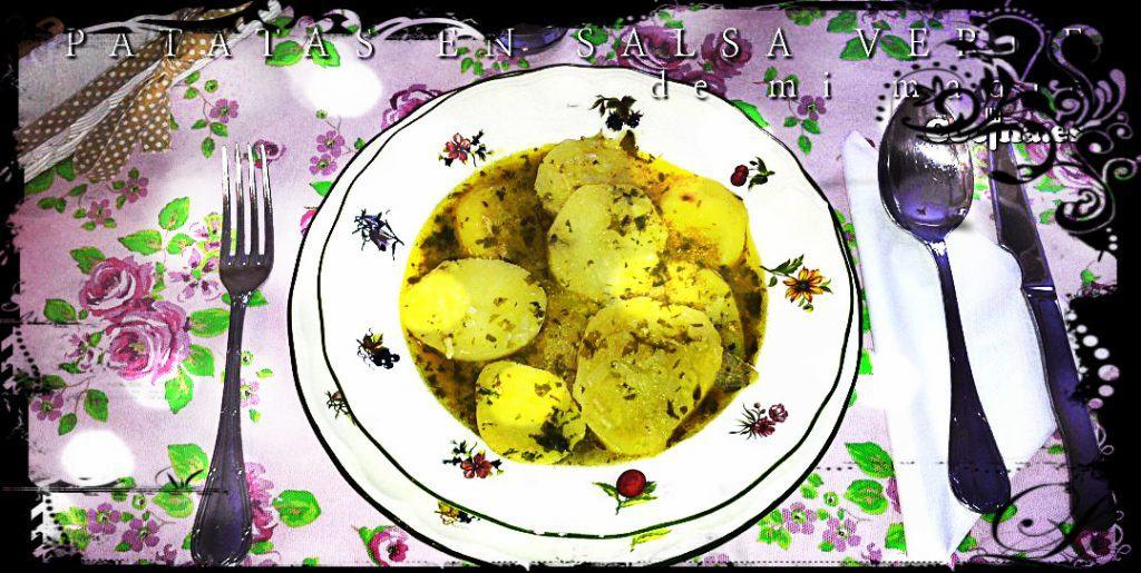 Patatas en salsa verde (filtro Instagram)