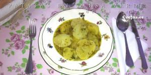 Patatas en salsa verde