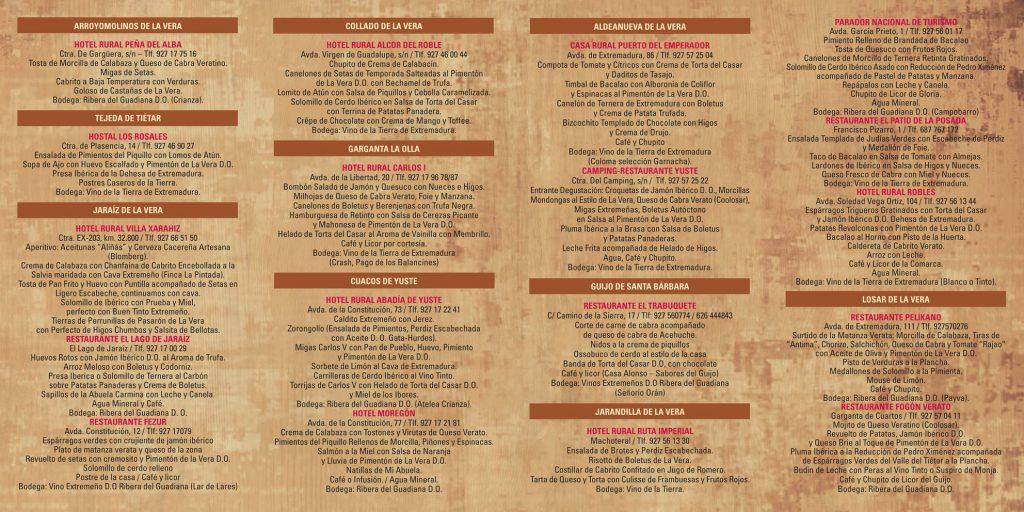 Restaurantes de La Vera