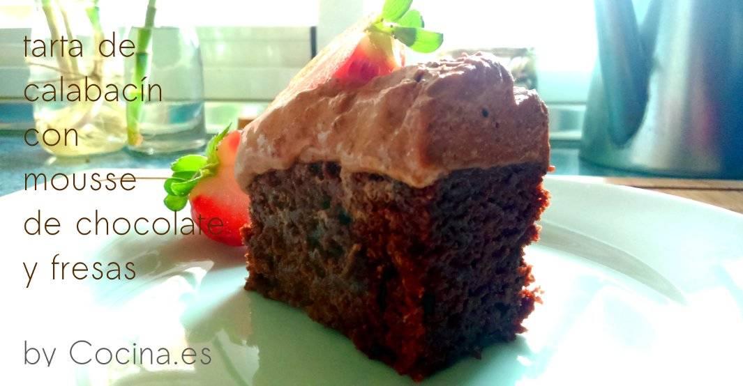 Tarta de calabacín y chocolate