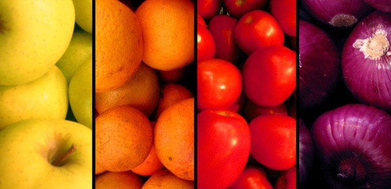 Vitaminas en frutas y verduras