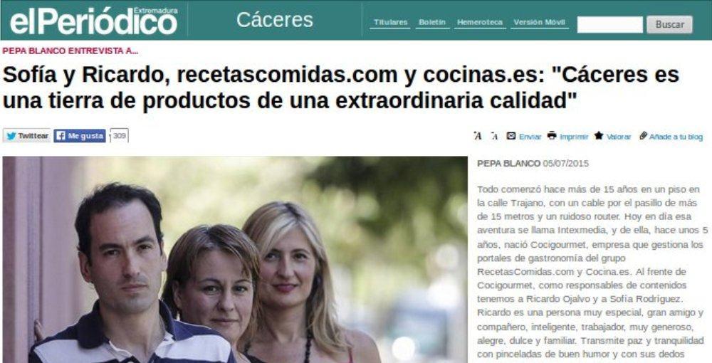 Entrevista a Sofía Rodríguez y Ricardo Ojalvo en el Periódico