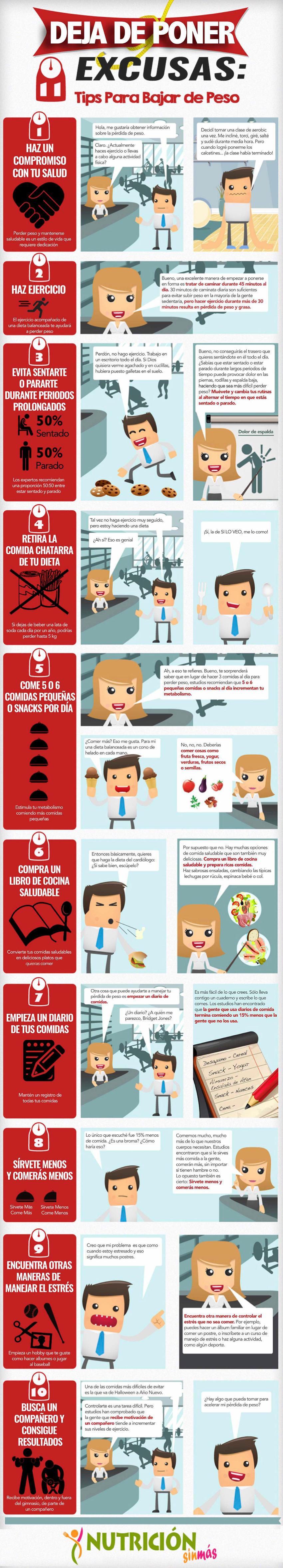 como perder peso infografia