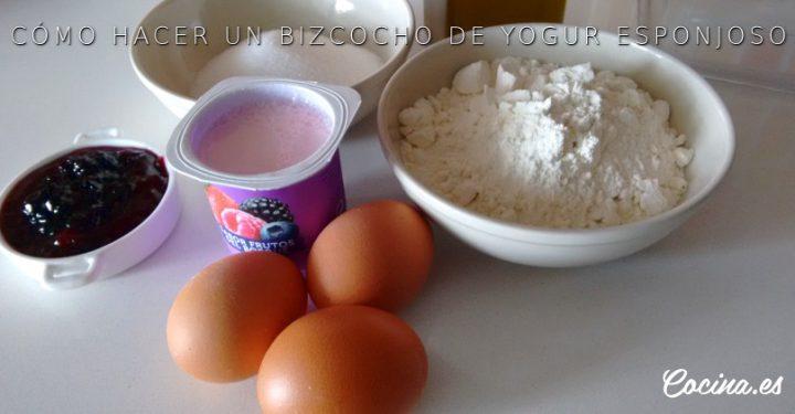 Bizcocho de yogur: ingredientes