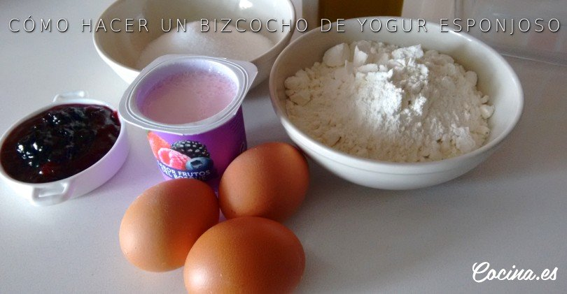 Bizcocho de yogur: ingredientes