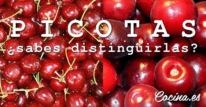 Cómo diferenciar la cereza picota del resto de cerezas