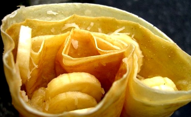 Recetas con plátano: crepes de chocolate y plátano