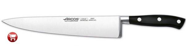 Cuchillo Arcos chef negro
