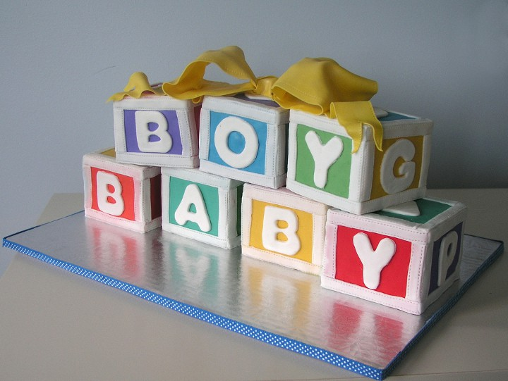 baby shower cake cubos