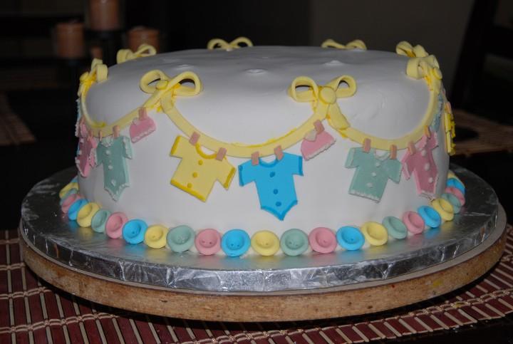 baby shower cake ropa