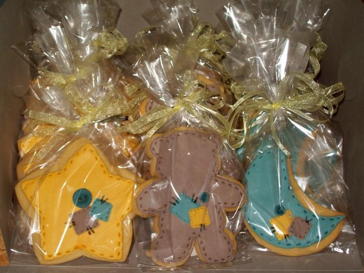 baby shower cookies estrellas