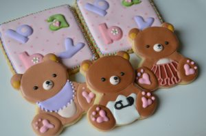 baby shower ositos cookies