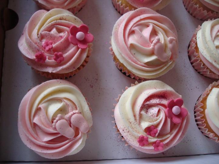 baby shower cupcake piececitos