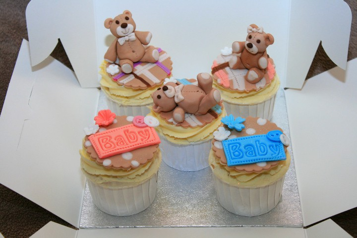 baby shower cupcakes osos