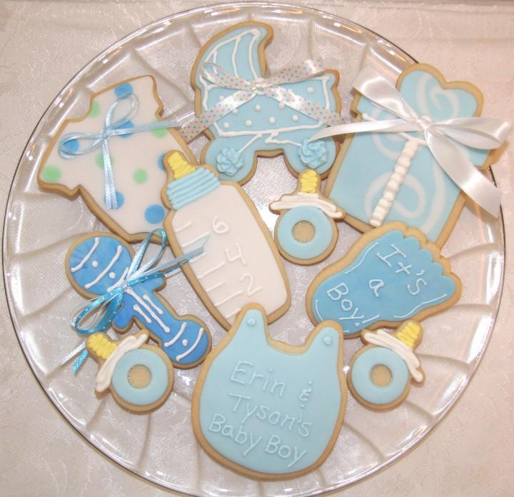 baby shower niño cookies
