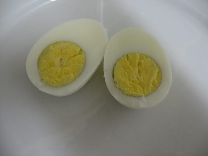 yema centro huevo duro