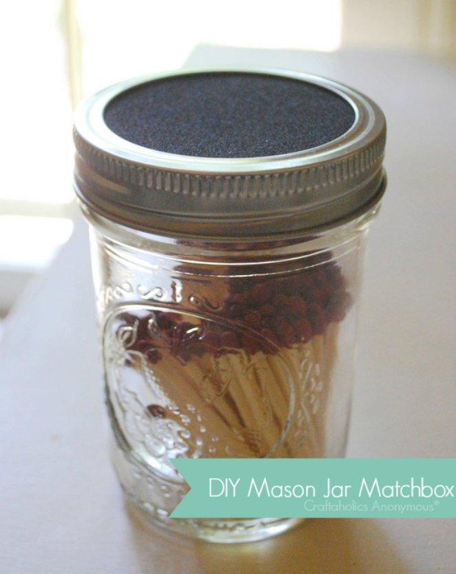 Cómo hacer cajas de cerillas con frascos de vidrio