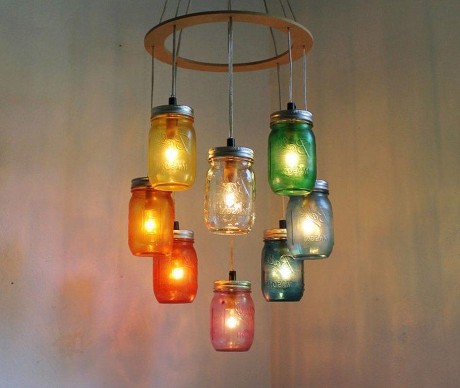 Lámparas eléctricas con frascos de vidrio reciclados
