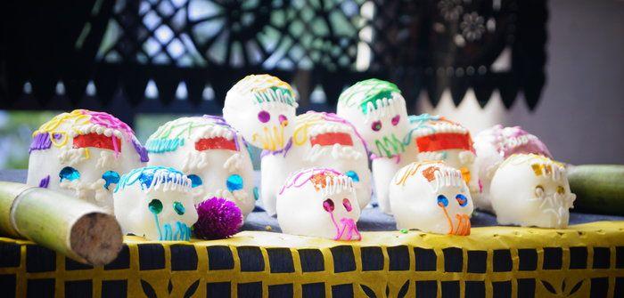 Imagen de calaveritas de azúcar para el día de muertos