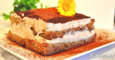 Tarta tiramisú sin horno