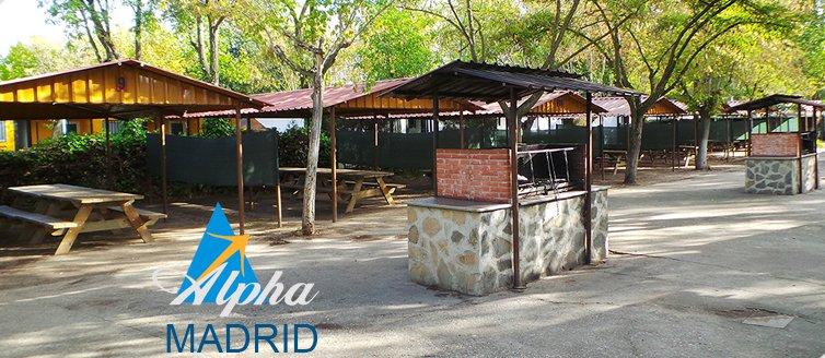 Lugares para hacer barbacoa en Madrid - Camping Alpha