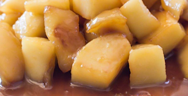 Manzanas Caramelizadas para Guarnición - Formas de Cocinar Manzanas