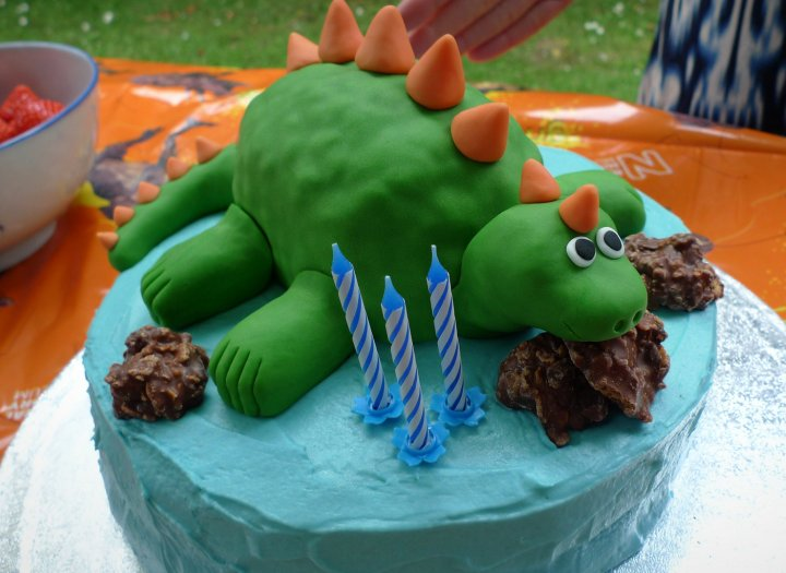 Tarta de Cumpleaños Dinosaurio