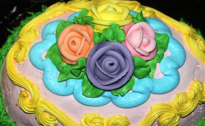 Tarta de Cumpleaños Flores