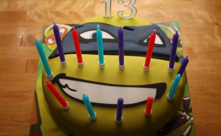 Tarta de Cumpleaños Tortuga Ninja