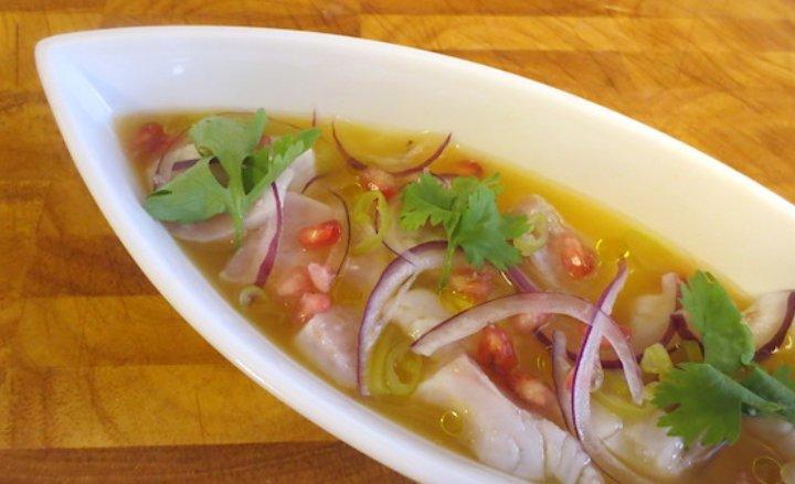 Canapés fríos, fáciles y rápidos: Ceviche Mar y Luz