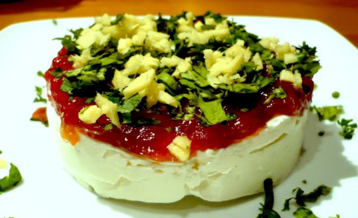 Canapés fríos, fáciles y rápidos: Canapés de Philadelphia, dulce de tomate y Jengibre