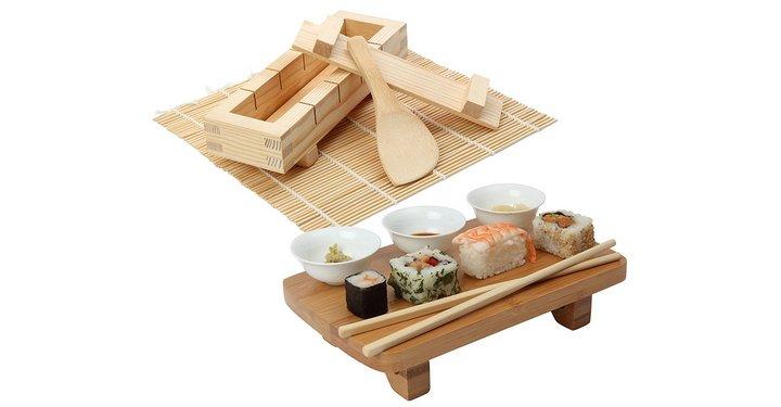 Kit de madera para hacer y servir Sushi