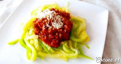Espaguetis de Calabacín con Boloñesa Vegana - Receta