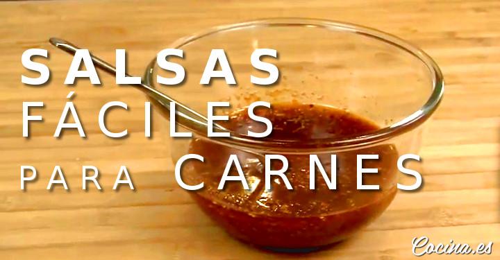 Salsas Fáciles para Carnes - Recetas de Salsas Fáciles