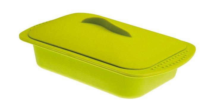 Recipientes para Cocinar en Microondas al Vapor - Recipiente de Silicona con tapa Ibili
