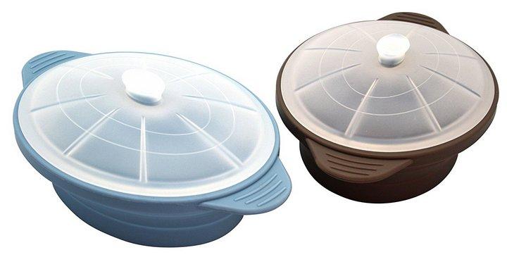 Recipientes para cocinar en Microondas al Vapor - Olla Plegable con Tapa Baekka