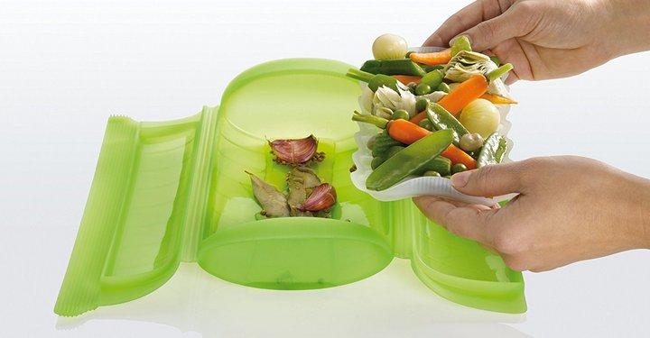 Recipientes para Cocinar en Microondas al Vapor