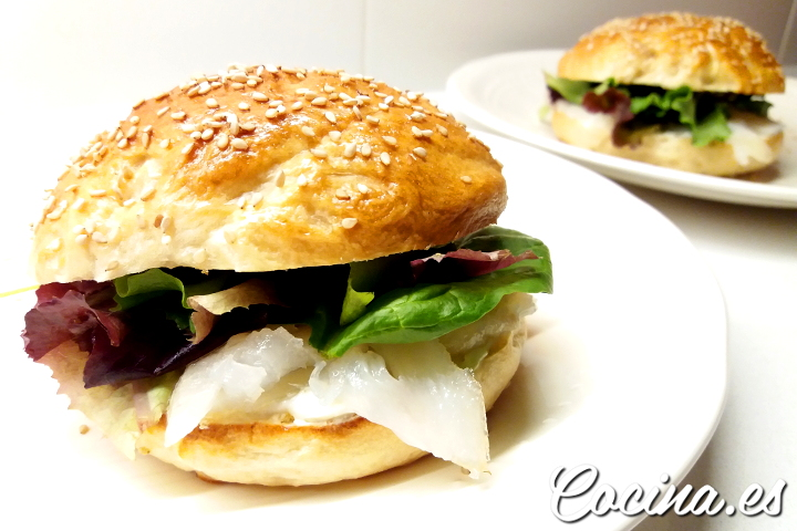 Sandwich casero con Bagels