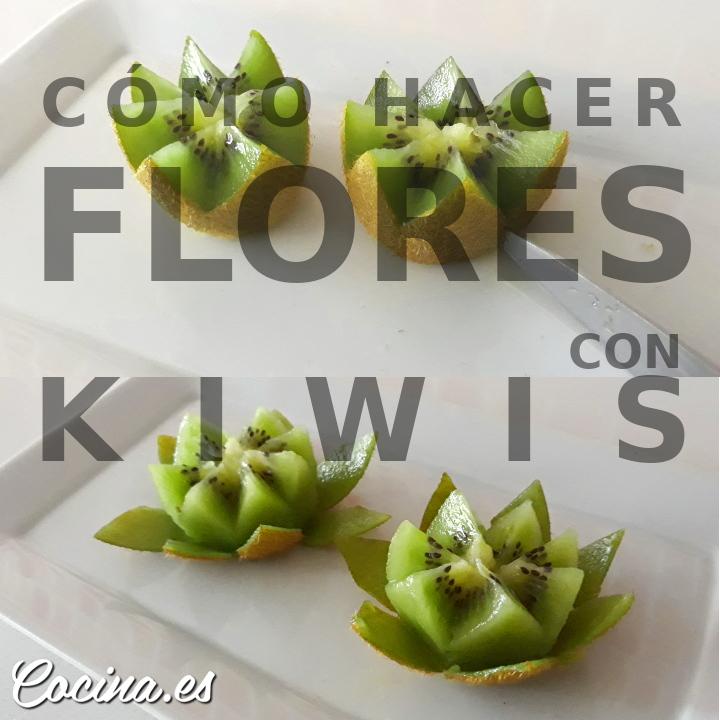 Cómo hacer Flores con Kiwis Fácil y Rápido